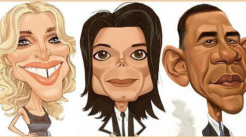 Madonna, Michael Jackson a Barack Obama - povedené obrázky vytvořené Chrisem Warem.