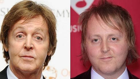 Paul McCartney se svým synem Jamesem.