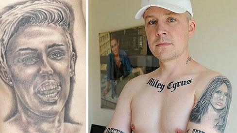 Carl McCoid je vskutku věrným fanouškem Miley Cyrus...