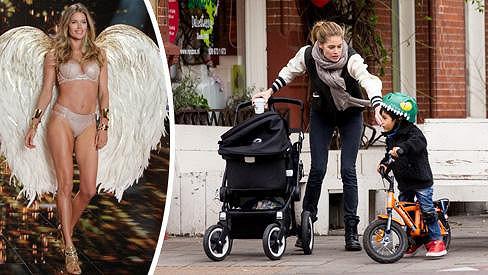 Doutzen Kroes zvládá roli maminky i sexy modelky.
