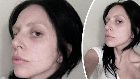 Lady Gaga je bez make-upu naprosto průměrná.