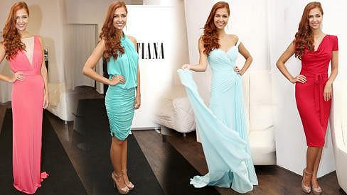 V těchto šatech nás bude Lucie Kovandová reprezentovat v Indonésii.