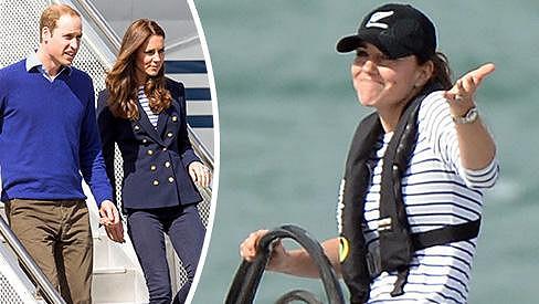 Kate se na Novém Zélandu předvedla jako sexy námořnice.