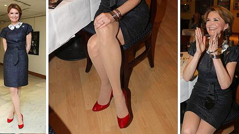 Hana Heřmánková má nádherné nohy.