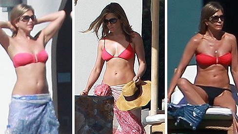 Jennifer Aniston a její milované červené bikinky