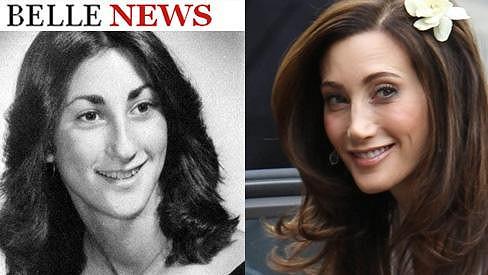 Nancy Shevell jako osmnáctiletá studentka (vlevo) a dnes.
