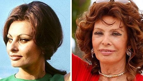 Sophia Loren v Cannes v roce 1964 a letos