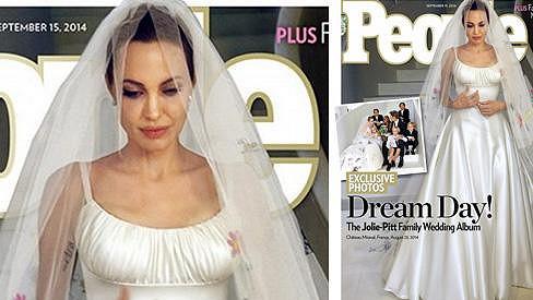 Nevěsta Angelina Jolie