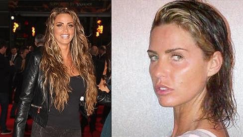 Katie Price shodila své dlouhé vlasy i nánosy make-upu.