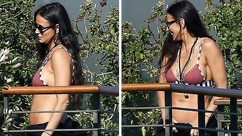 Demi Moore trávila volné chvíle s přáteli v Malibu.