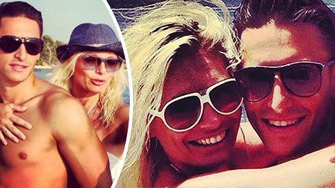 Lucie Borhyová a Michal Hrdlička na dovolené v Chorvatsku.