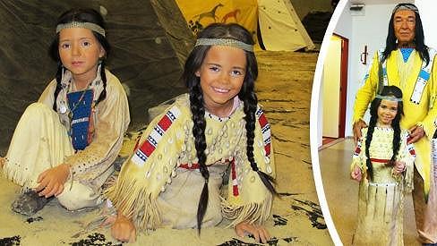 Karel Gott a jeho indiánské dcery.