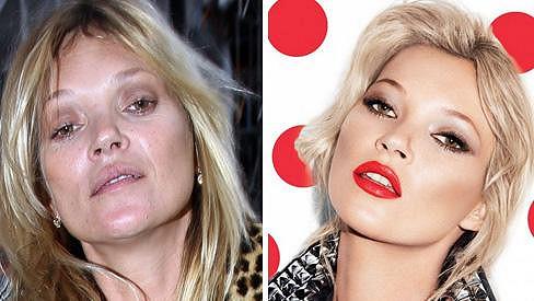 Dvě tváře Kate Moss