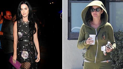 Katy Perry jako hvězda a jako průměrná žena.