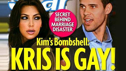 Kim Kardashian a Kris Humphries na obalu časopisu Star.