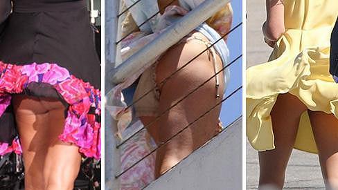 Jessica Simpson, Lindsay Lohan a Kate Middleton nechtěně ukázaly své intimní partie.