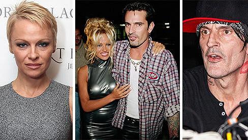 Pamela Anderson s bývalým manželem a jejich současná podoba.