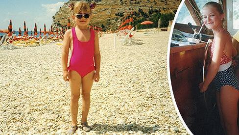 Takto jako malá pózovala na pláži nová Česká Miss.