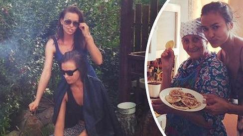 Irina Shayk se svou krásnou sestrou a s babičkou