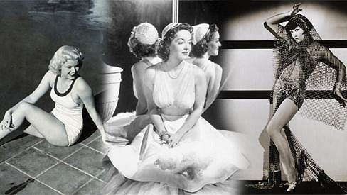 Slavné krásky stříbrného plátna třicátých let minulého století.