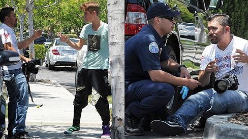 Justin Bieber v zuřivosti napadl fotografa.