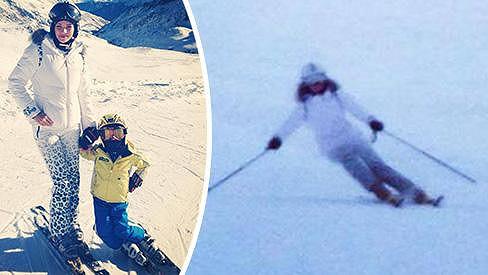 Andrea Verešová lyžuje velmi opatrně.