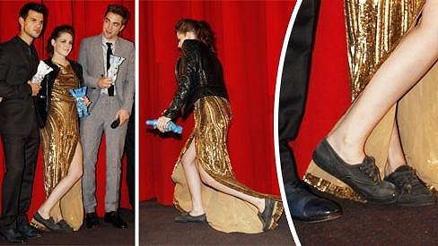 Kristen Stewart na premiéře závěrečného dílu Twilight ságy.
