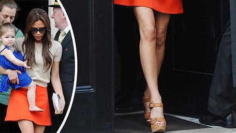 Victoria Beckham ráda chodí v mini.