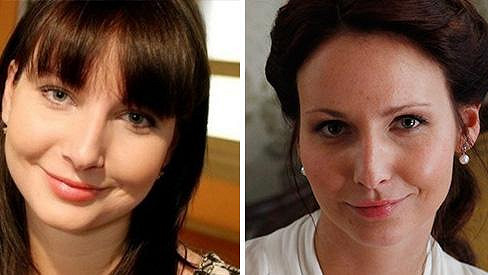 Veronika Arichteva: Vlevo foto z Ordinace, kterou herečka začala natáčet ještě za studií, vpravo fotka z První republiky.