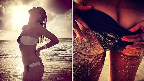 Heidi Klum si v Karibiku užívala krásného počasí.