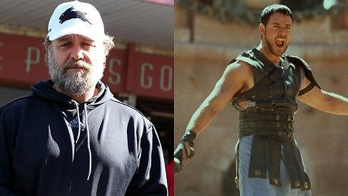 Russell Crowe vypadá velmi zanedbaně.