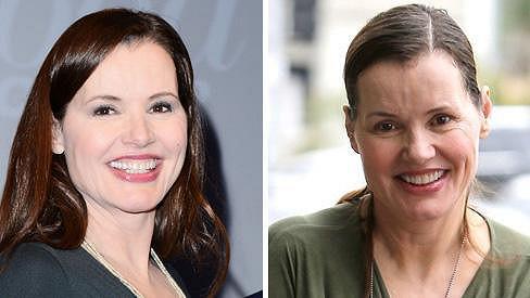 Tyhle dvě fotky Geeny Davis dělí pouhý měsíc.