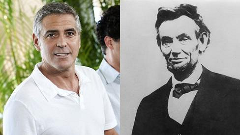 George Clooney a Abraham Lincoln.