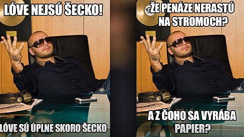 Rytmus v reklamě na studentské konto slovenské banky.