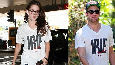 Kristen Stewart v tričku, které nosil Robert Pattinson.
