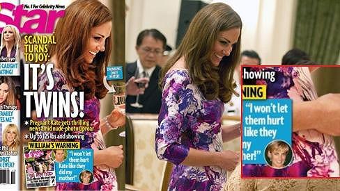 Princezně Kate grafici v magazínu Star pravděpodobně zvětšili bříško.