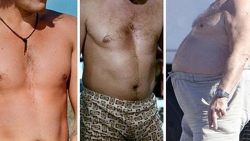 Slavný francouzský herec v průběhu let postupně nabíral kila.