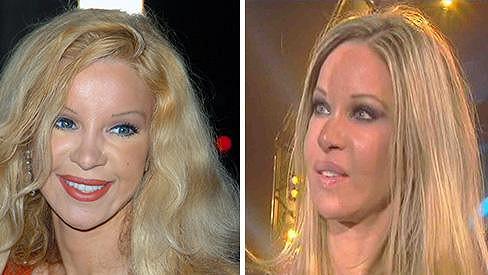 Alicia Douvall v roce 2007 a dnes