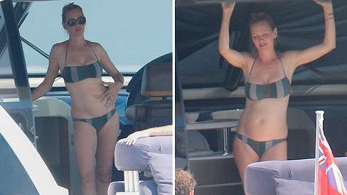 Uma Thurman tráví volné dny na jachtě v Saint-Tropez.