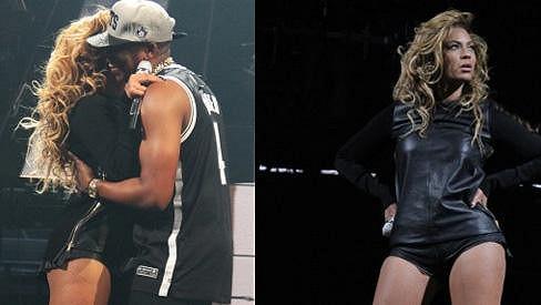 Beyoncé a Jay-Z společně na pódiu v New Yorku.