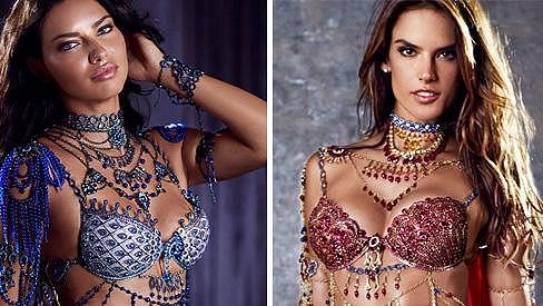 Adriana a Alessandra v luxusním prádle