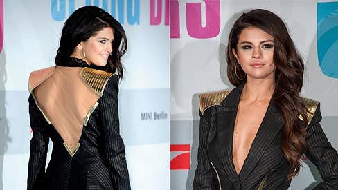Selena Gomez na premiéře nového filmu Spring Breakers.