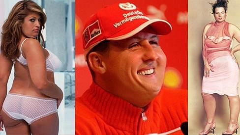 Eva Mendes, Michael Schumacher a Kate Moss. Takhle by možná vypadali jako tlouštíci.