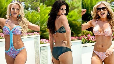 Půvabné finalistky Miss USA 2012 ukázaly své přednosti v plavkách.