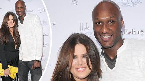 Khloé Kardashian a Lamar Odom na archivním snímku