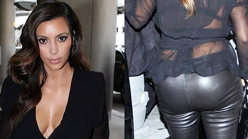 Kim Kardashian se i přes vysoké teploty nasoukala do kůže.