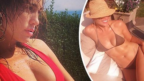 Žhavý pozdrav Jennifer Lopez z dovolené.