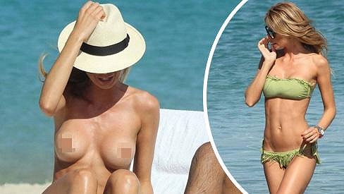 Silvia Abbate potěšila pánské osazenstvo pláže.