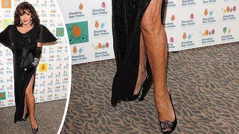 Joan Collins by nohy neměla příliš ukazovat.