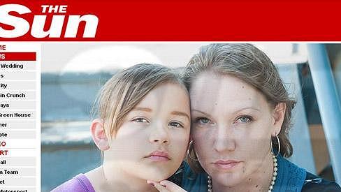 Sharon Evans se svou sedmiletou dcerou Bree.
